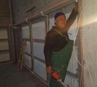 Монтаж радиаторов отопления в театре г.Джиззак