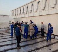 Монтаж вентиляционной установки на крыше театра г.Джиззак