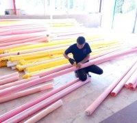 Подготовка к монтажу термоизоляции для труб