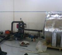 Подвод трубопроводов к емкости для хладагента