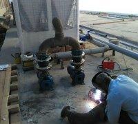 Сварочные работы по сборке гидромодуля (насосная группа) чиллеров Shivaki