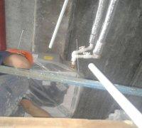 """Прокладка труб к фанкойлу для соеденения с системой кондиционирования """"Чиллер-фанкойл"""""""