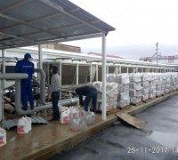 Заливание антифриза в систему охлаждения сухих градирен