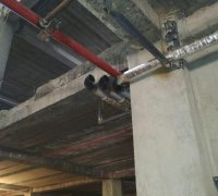 Прокладка трубопровода системы кондиционирования (Чиллер-фанкойл)